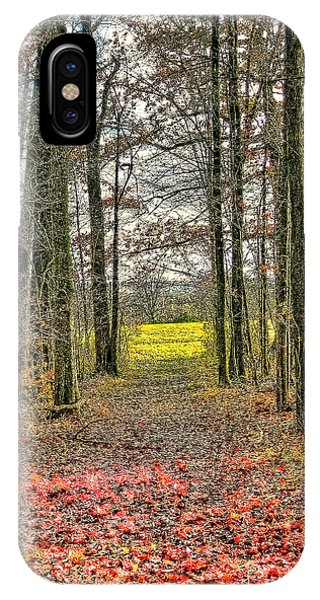 Autumn Tunnel Vision IPhone Case