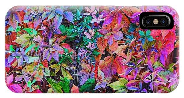 Autumn Virginia Creeper IPhone Case