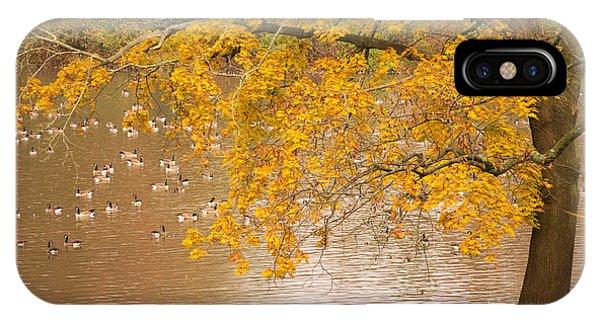Autumn Visitors IPhone Case