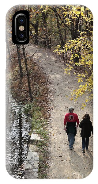 Autumn Walk On The C And O Canal Towpath IPhone Case