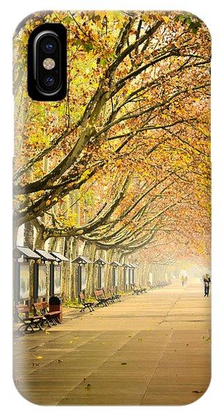 Autumn Walk Xian China IPhone Case