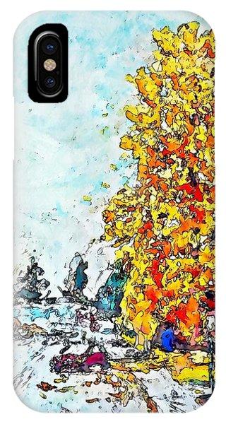 Autumn Wharf Avenue IPhone Case