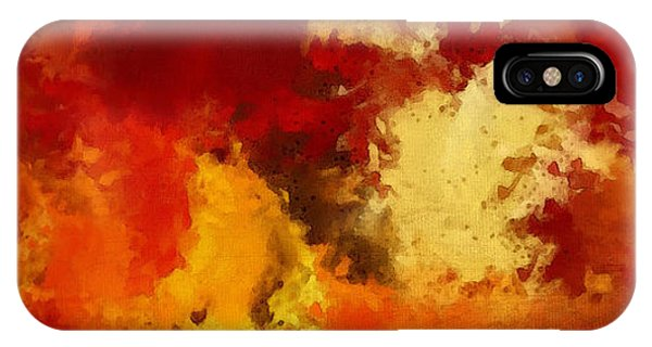 Autumn's Abstract Beauty IPhone Case