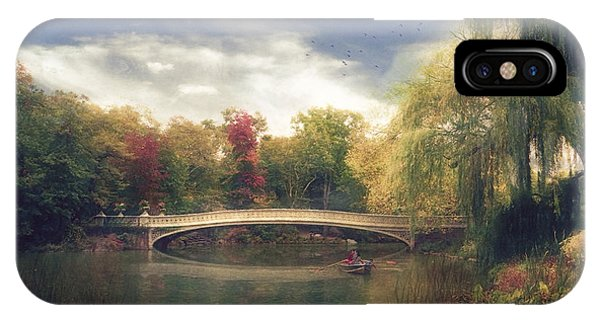 Autumn's Afternoon In Central Park Phone Case by John Rivera