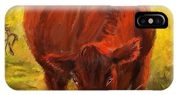 Autumn's Afternoon - Cow Painting IPhone Case