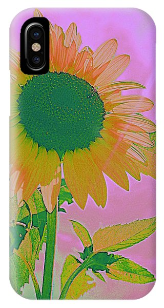 Autumn's Sunflower Pop Art IPhone Case