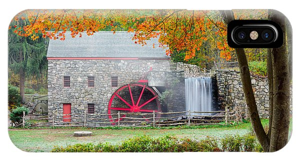 Auutmn At The Grist Mill IPhone Case