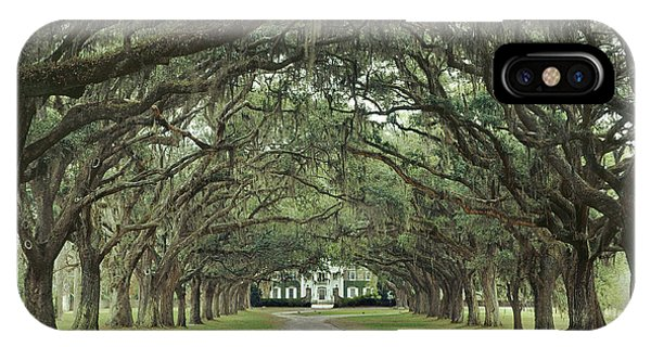 147706-avenue Of The Oaks  IPhone Case