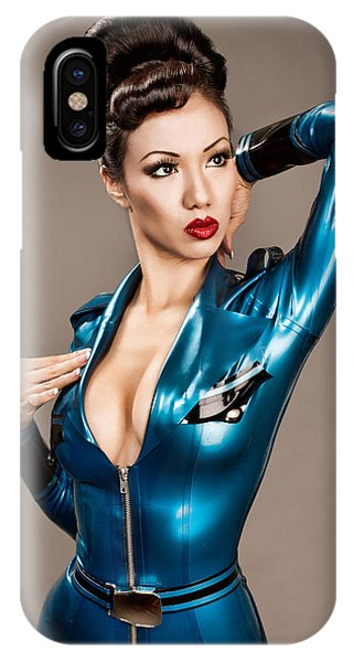 Aviator Vixen 1176 - Science Fiction Pinup Girl IPhone Case