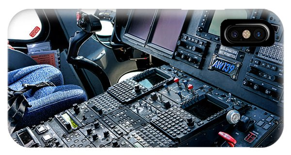 Helicopter iPhone X Case - Aw139 Cockpit by Olivier Le Queinec