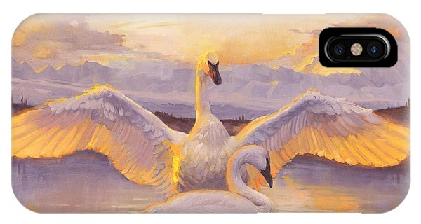 Swan iPhone Case - Awakening by Francois Girard