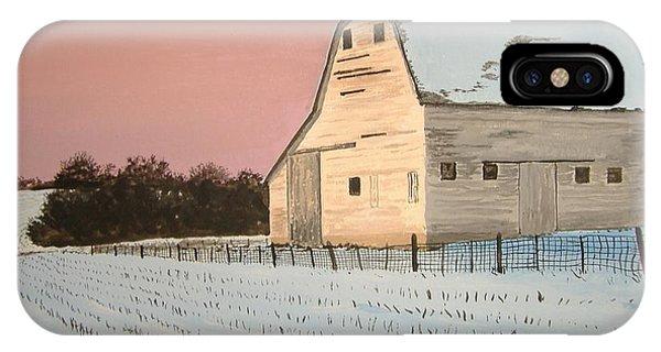 Award-winning Original Acrylic Painting - Nebraska Barn IPhone Case