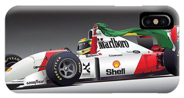 Ayrton Senna Da Silva Art IPhone Case