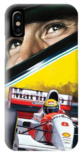 Ayrton Senna Artwork IPhone Case