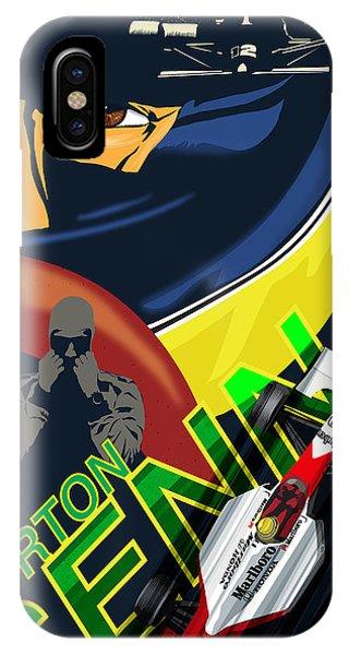 Brazil iPhone X Case - Ayrton Senna Race Illustration by Sassan Filsoof