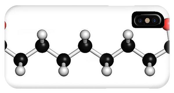 Azelaic Acid Nonanedioic Acid Molecule Phone Case by Molekuul