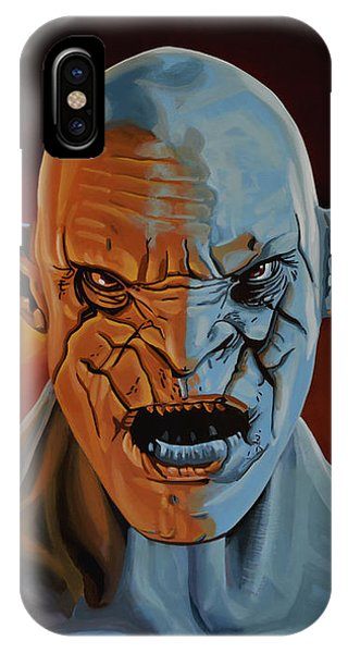 Middle iPhone Case - Azog The Orc Painting by Paul Meijering