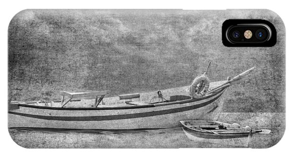Azorean Fishing Boats B/w IPhone Case