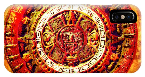 Maya iPhone Case - Aztec Sun Stone by YoPedro