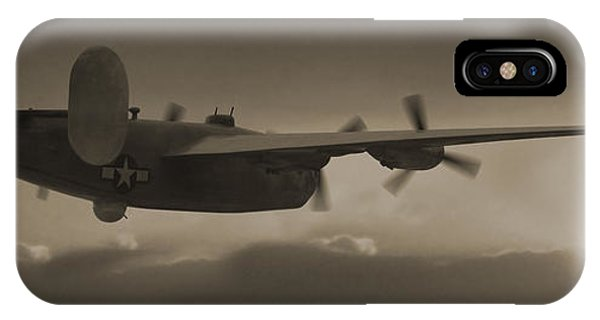 Bomber iPhone Case - B - 24 Into The Sun Panoramic by Mike McGlothlen