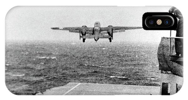 B-25 Bomber Taking Off During Wwii IPhone Case