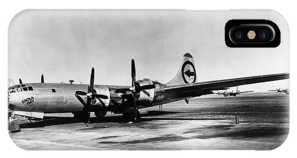 Bomber iPhone Case - B-29 Enola Gay by Los Alamos National Laboratory/science Photo Library