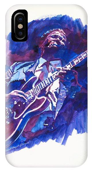 Guitar Legends iPhone Case - B. B. King Blue by David Lloyd Glover