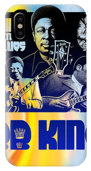 B. B. King Poster Art Phone Case by Robert Korhonen