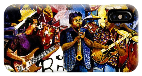 B. One Jazz Band Featuring Erly Thornton IPhone Case
