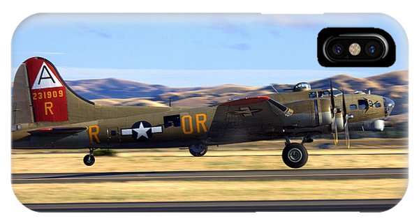 B17 Flying Fortress Departs Livermore Klvk IPhone Case