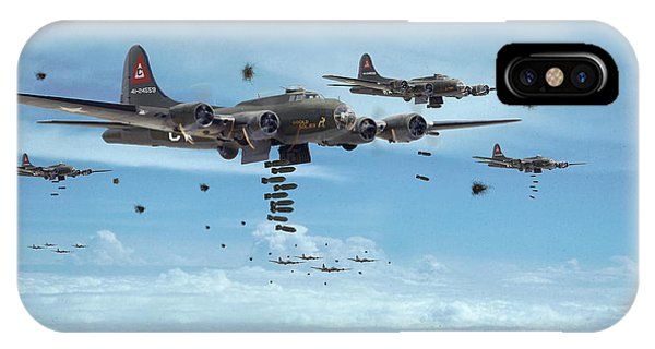 B17 - Mighty 8th Arrives IPhone Case