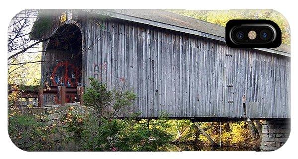 Babbs Covered Bridge In Maine IPhone Case