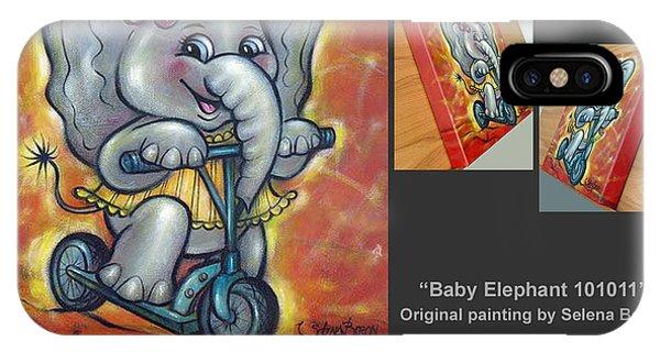 Baby Elephant 101011 Comp IPhone Case
