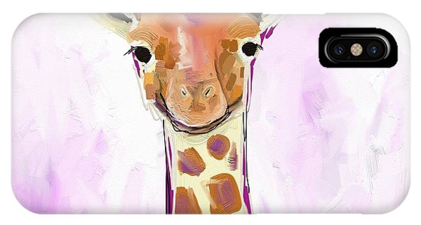 Orange iPhone Case - Baby Giraffe  by Cathy Walters