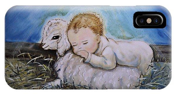 Baby Jesus Little Lamb IPhone Case