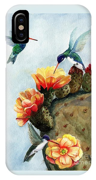 Hummingbird iPhone Case - Baby Makes Three by Marilyn Smith