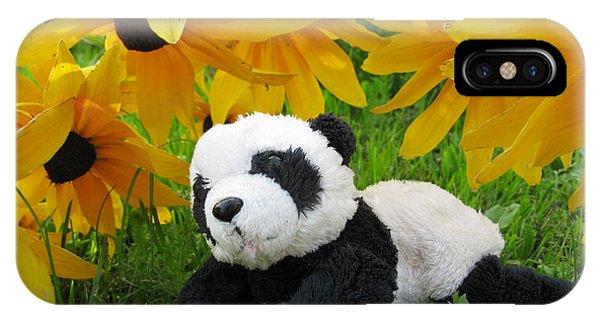 Baby Panda Under The Golden Sky IPhone Case