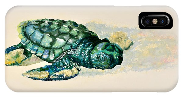 Da150 Baby Sea Turtle By Daniel Adams  IPhone Case