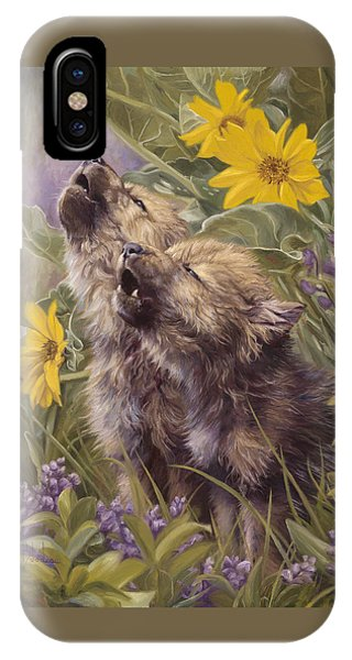 Baby Wolves Howling IPhone Case
