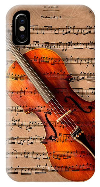 Violin iPhone Case - Bach On Cello by Sheryl Cox