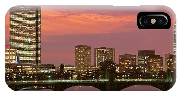 City Sunset iPhone Case - Back Bay, Boston, Massachusetts, Usa by Panoramic Images