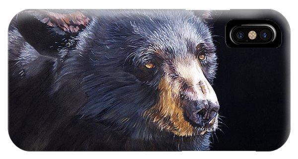 Back In Black Bear IPhone Case