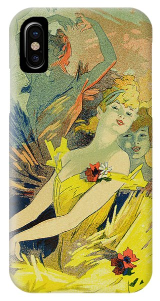 Dance iPhone Case - Back-stage At The Opera by Jules Cheret