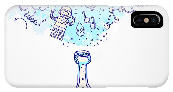 Celebration iPhone Case - Back To School Science Learning Symbols by Gorbash Varvara