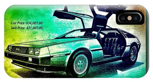 Back To The Delorean IPhone Case