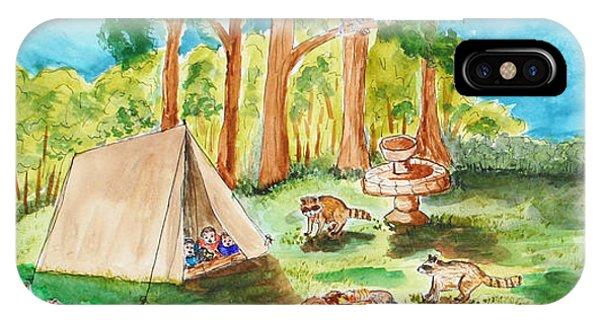 Back Yard Camp IPhone Case