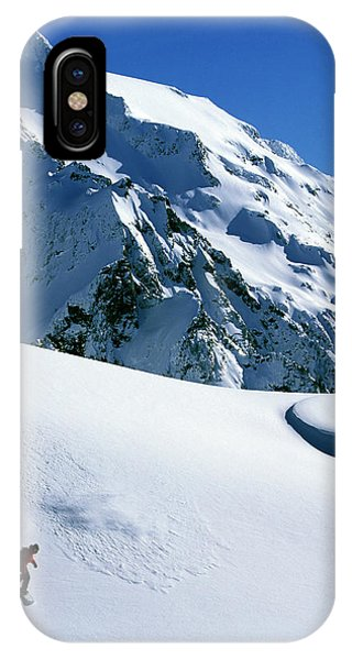 It Professional iPhone Case - Backcountry Snowboarding Near Mt by Corey Rich