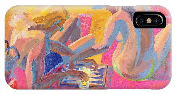 Sunbather iPhone Case - Backgammon by William Ireland