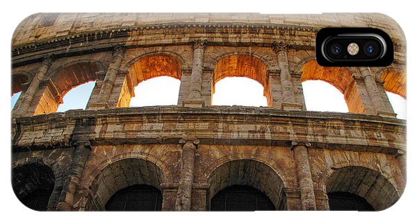 IPhone Case featuring the photograph Backlit  Colosseum by Joe Winkler