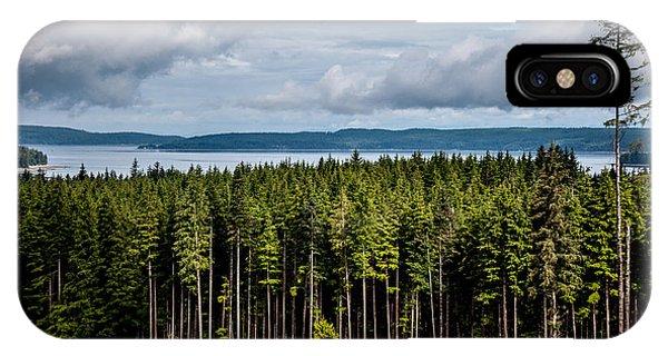 Logging Road Landscape IPhone Case
